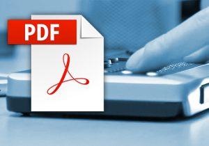 Braillezeile und PDF Icon