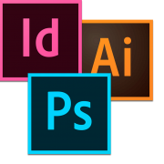 InDesign, Illustrator, Photoshop Icons