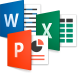Word, Excel, PPT Icons