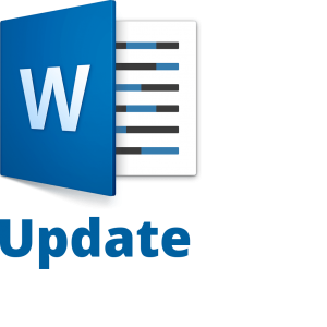 Word Update Icon